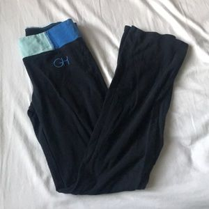Gilly Hicks yoga leggings with flared hems size M